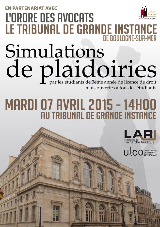 Simulations de plaidoiries