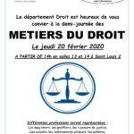 Demi-Journée des métiers du Droit